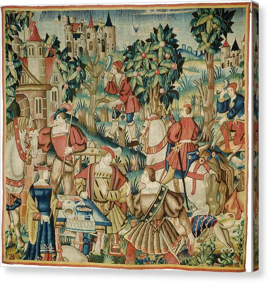 Dye Canvas Print - Design And Cartoon Flemish 16th Century, Probably Tournai by Quint Lox
