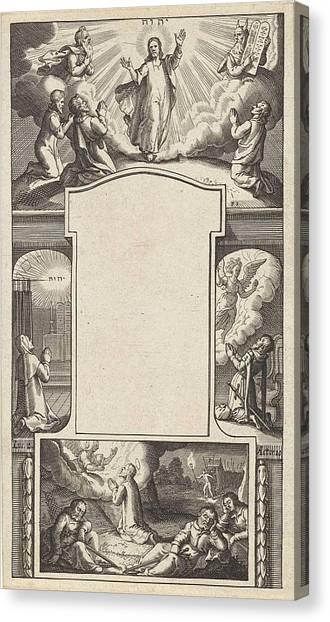 Garden Scene Canvas Print - Design For A Title Page, Pieter Serwouters by Pieter Serwouters