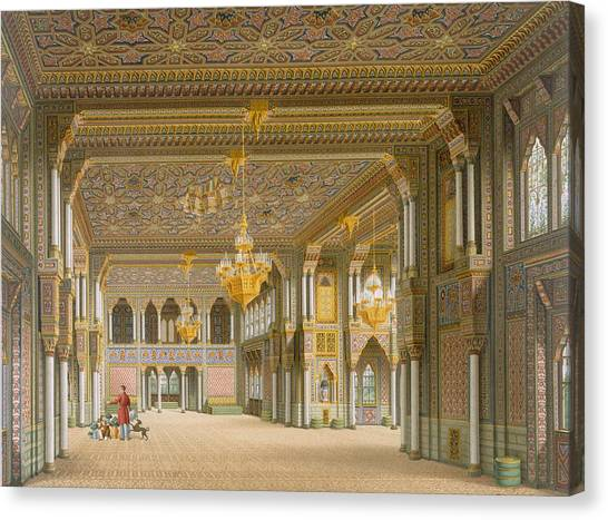 Tile Canvas Print - Design For The Interior Of Wilhelma by Karl Ludwig Wilhelm Zanth