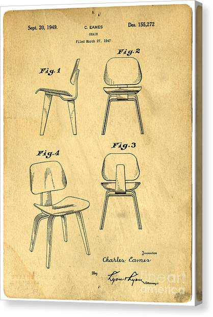 Chairs Canvas Print - Designs For A Eames Chair by Edward Fielding