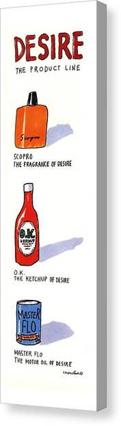 Ketchup Canvas Print - Desire: The Product Line by Michael Crawford