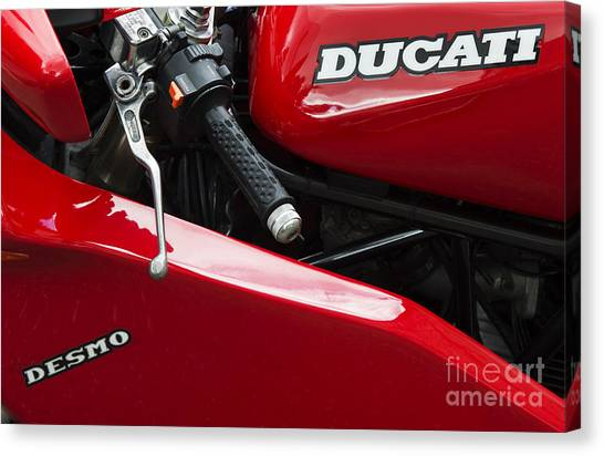 Ducati Canvas Print - Desmo by Tim Gainey