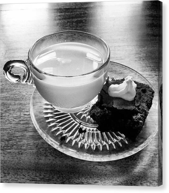 Milk Canvas Print - Dessert First by Jill Tuinier