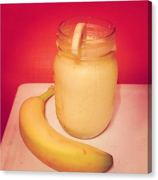 Smoothie Canvas Print - {dessert} Piña Colada Smoothie. #paleo by Brooklyn Cole