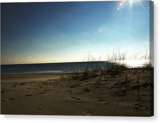 Destin Beach Sun Glare Canvas Print