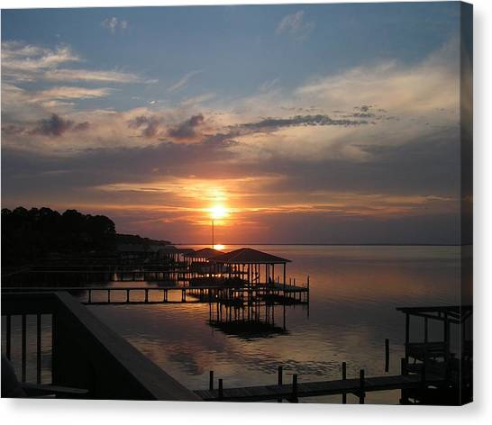 Destin Sunset Canvas Print