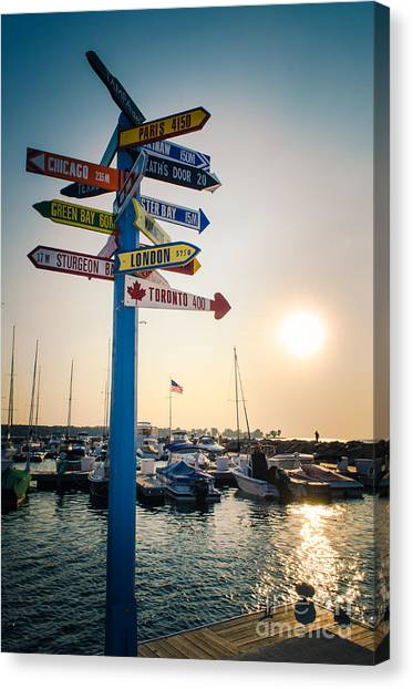 Destination Egg Harbor Canvas Print