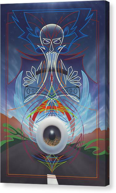 Destiny Meets Eternity In The Oncoming Lane Canvas Print