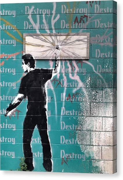 Graffiti Walls Canvas Print - Destroy My Walls by The Artist Project