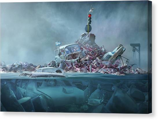 Pollution Canvas Print - Destruction Of The Environment by Sulaiman Almawash