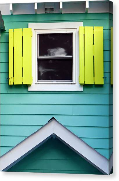 Detail Of Beach Cottage Canvas Print