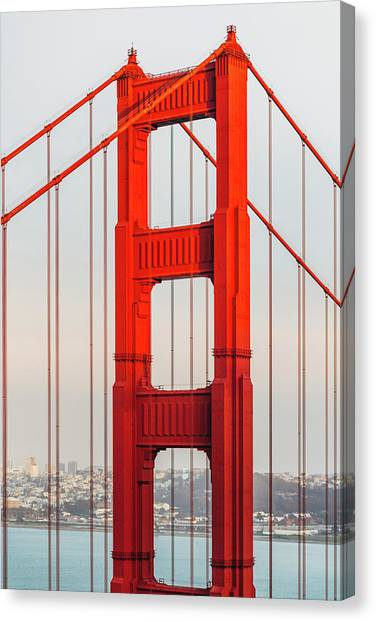 Detail Of Golden Gate Bridge, San Canvas Print