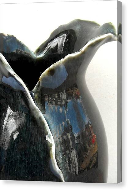 Detail Of Porcelain Petal Vase 1  Canvas Print