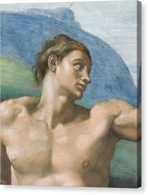 Michelangelo Canvas Print - Detail Of The Vault by Michelangelo