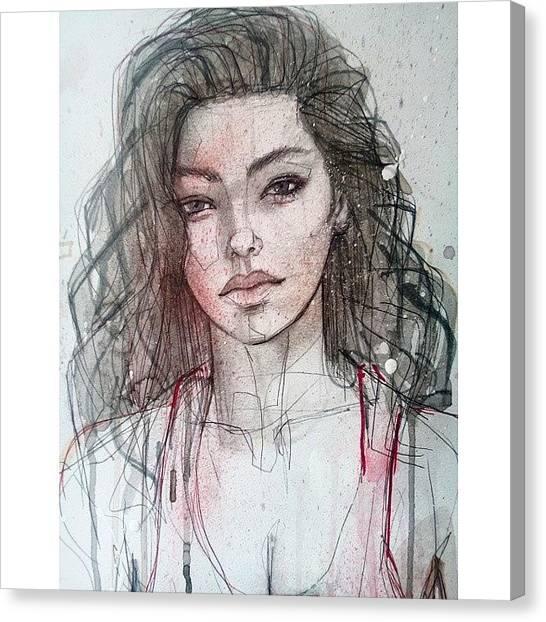 Ballpoint Pens Canvas Print - Adrianne by Jef2D
