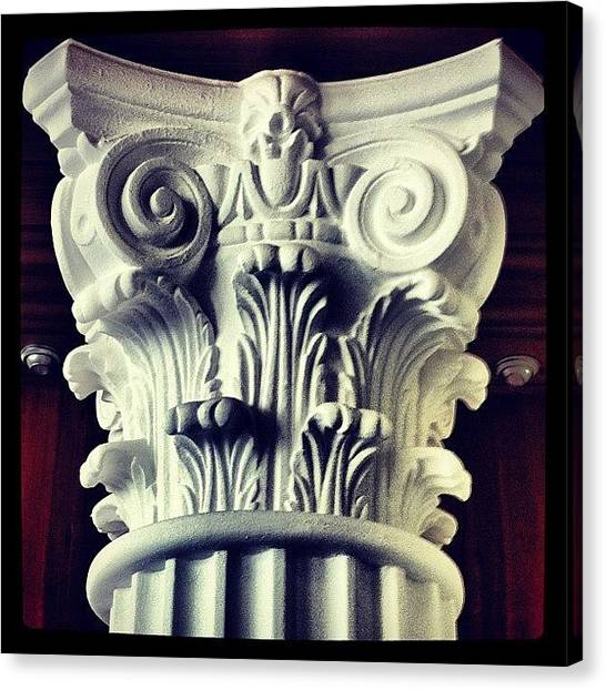 Design Canvas Print - #details Of A Decorational #pillar by Sascha  Buchholz
