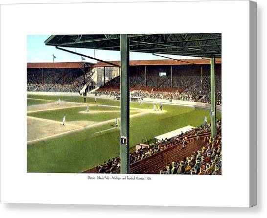 Detroit - Navin Field - Detroit Tigers - Michigan And Trumbull Avenues - 1914 Canvas Print