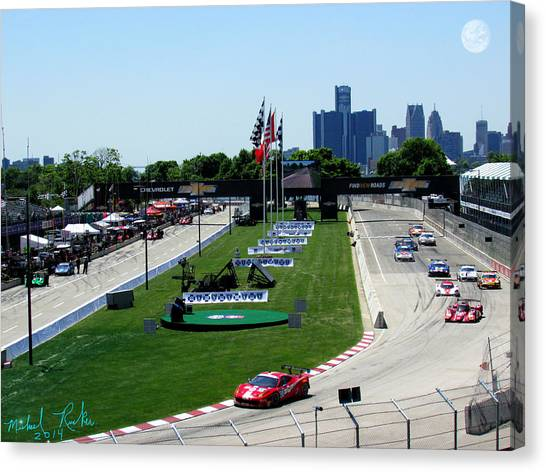 Canvas Print - Detroit Grand Prix 2014 by Michael Rucker