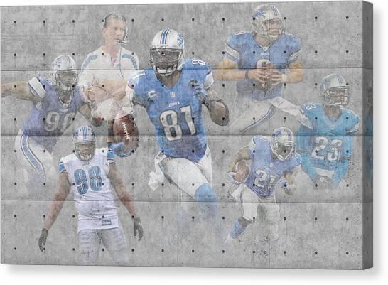 Detroit Lions Canvas Print - Detroit Lions Team by Joe Hamilton