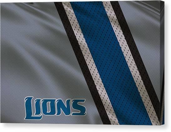 Detroit Lions Canvas Print - Detroit Lions Uniform by Joe Hamilton