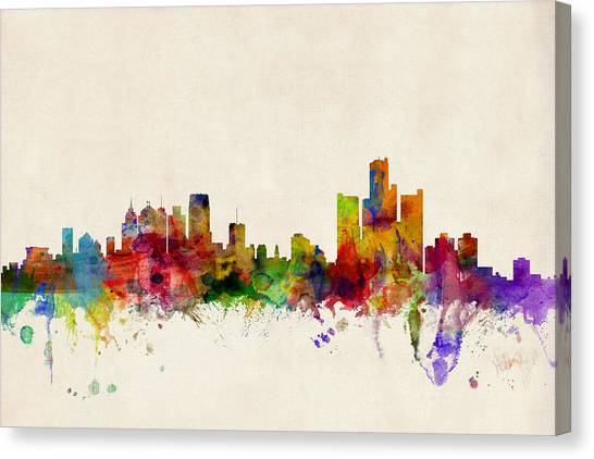 Detroit Michigan Skyline Canvas Print