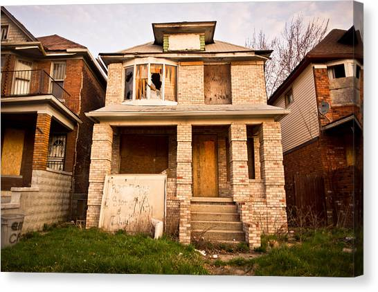 Canvas Print featuring the photograph Detroit Neighborhood by Priya Ghose
