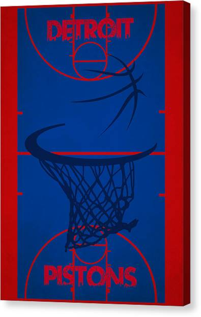 Detroit Pistons Canvas Print - Detroit Pistons Court by Joe Hamilton