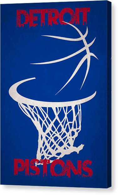 Detroit Pistons Canvas Print - Detroit Pistons Hoop by Joe Hamilton