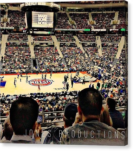 Basketball Teams Canvas Print - #detroit #pistons #the #palace #auburn by Jim Jones