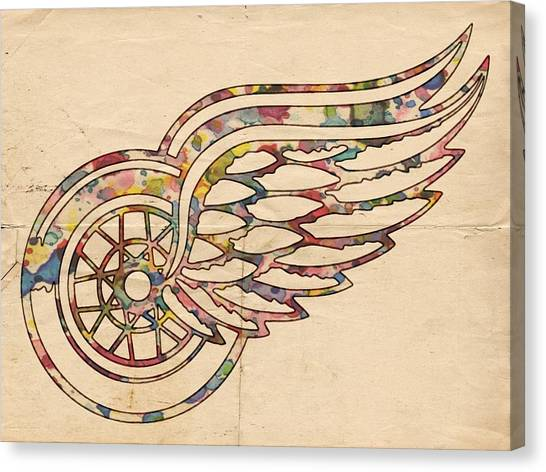 Detroit Red Wings Canvas Print - Detroit Red Wings Poster Art by Florian Rodarte