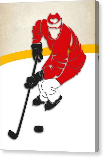 Detroit Red Wings Canvas Print - Detroit Red Wings Rink by Joe Hamilton