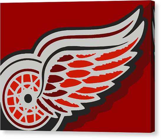 Detroit Red Wings Canvas Print - Detroit Red Wings by Tony Rubino