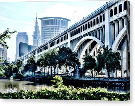 Detroit-superior Bridge - Cleveland Ohio - 1 Canvas Print