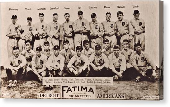 Detroit Tigers Canvas Print - Detroit Tigers 1913 by Benjamin Yeager