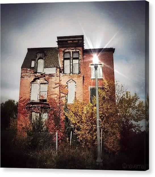 Michigan Canvas Print - Detroit's Abandoned Beauty by Natasha Marco