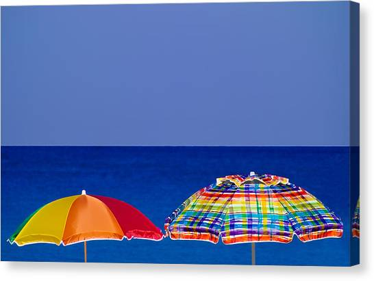 Deuce Umbrellas Canvas Print