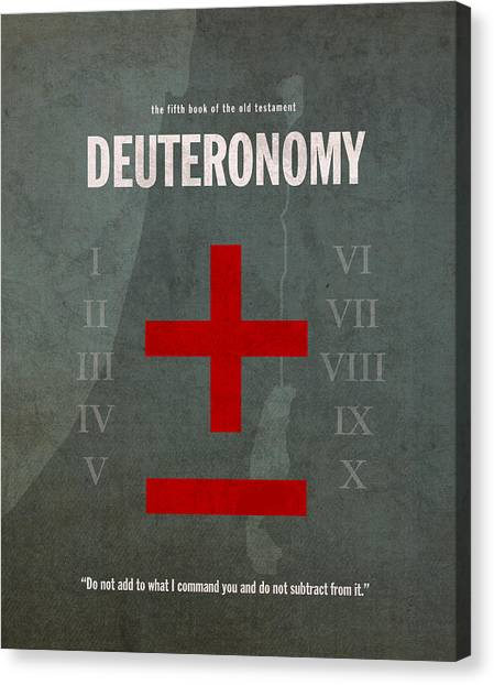 Old Testament Canvas Print - Deuteronomy Books Of The Bible Series Old Testament Minimal Poster Art Number 5 by Design Turnpike