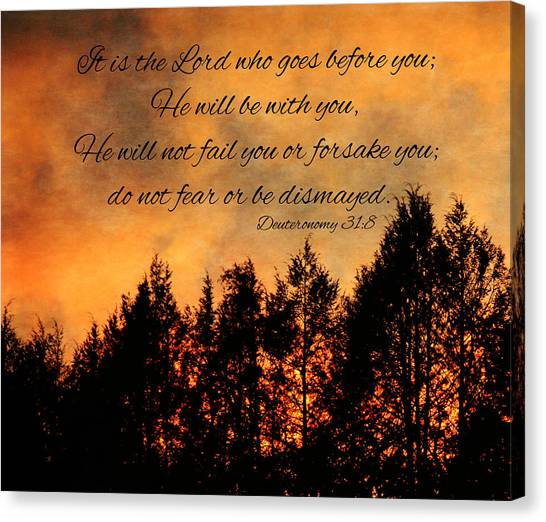 Deuteronomy The Lord Goes Before You Canvas Print