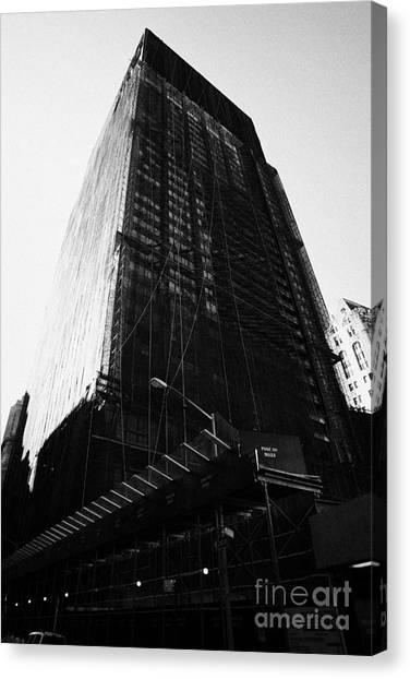 Manhatan Canvas Print - Deutsche Bank Building Due For Demolition Liberty Street Ground Zero by Joe Fox