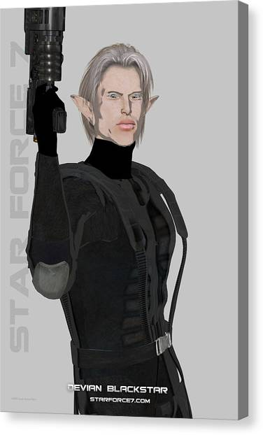 Science Fiction Canvas Print - Devian Blackstar Print #1 by Donnie Maynard Christianson