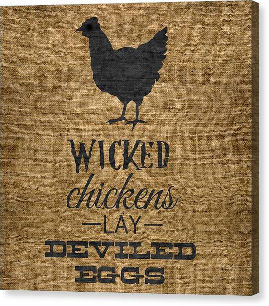 Deviled Eggs Canvas Print