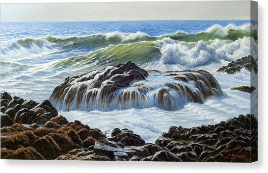 Oregon Canvas Print - Devil's Churn Area-oregon Coast by Paul Krapf