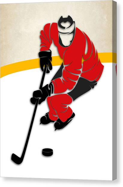 New Jersey Devils Canvas Print - Devils Hockey Rink by Joe Hamilton