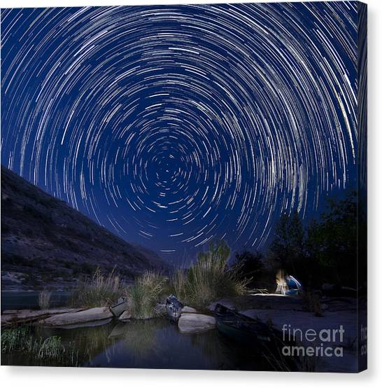 Devils River Star Trails Canvas Print
