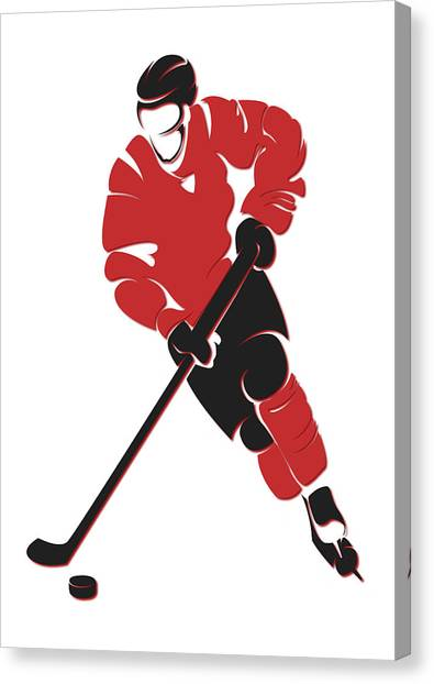 New Jersey Devils Canvas Print - Devils Shadow Player by Joe Hamilton