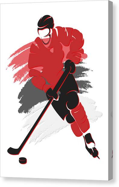 New Jersey Devils Canvas Print - Devils Shadow Player2 by Joe Hamilton