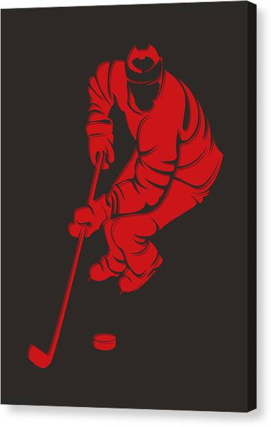 New Jersey Devils Canvas Print - Devils Shadow Player3 by Joe Hamilton