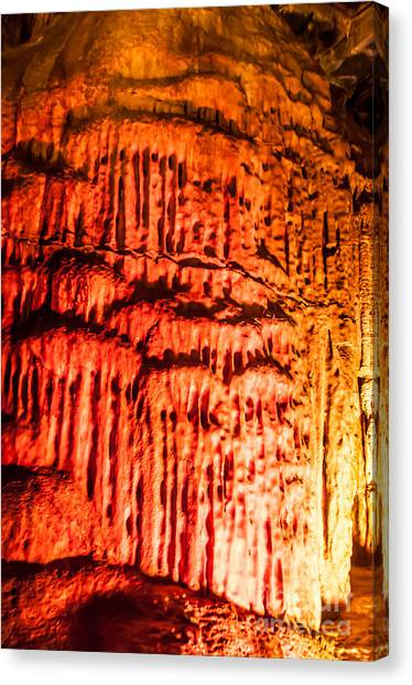 Spelunking Canvas Print - Devils Stalactite by Anthony Sacco