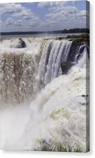 Iguazu Falls Canvas Print - Devils Throat by Alfred Pasieka