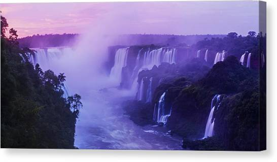 Iguazu Falls Canvas Print - Devils Throat Sunrise by Mike Reid